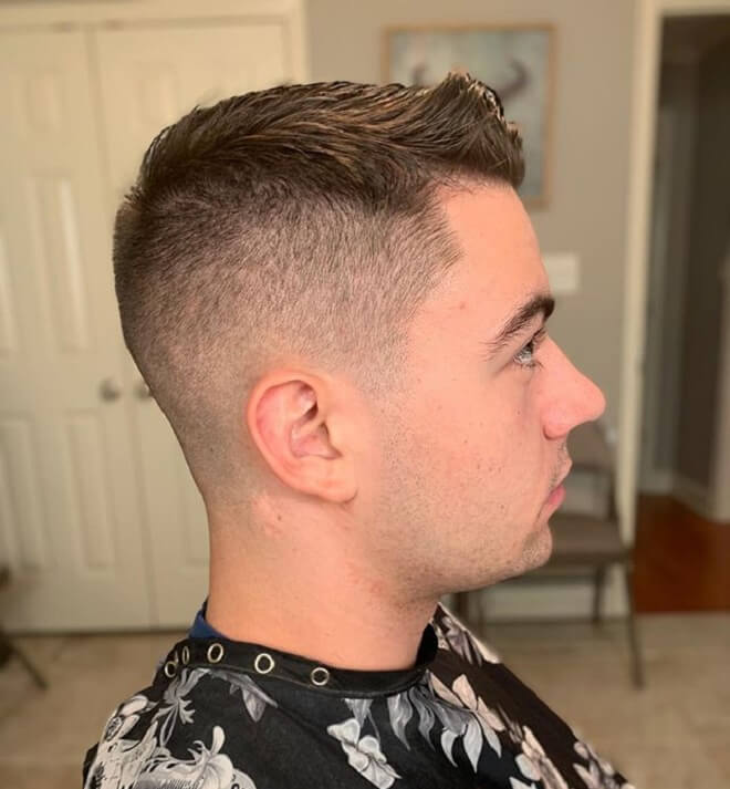 Taper Side with Short Pomade