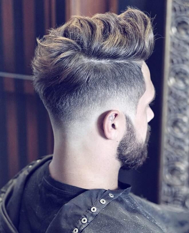 Textured Pompadour with Taper Side