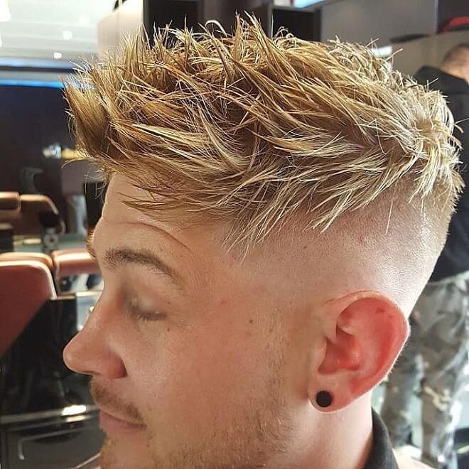 Textured Spiky with Skin Fade Undercut