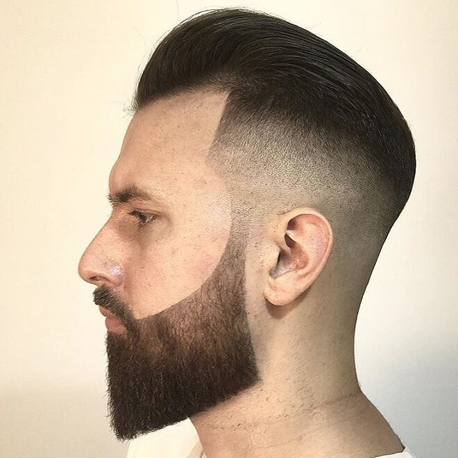 Undercut With Beard Style