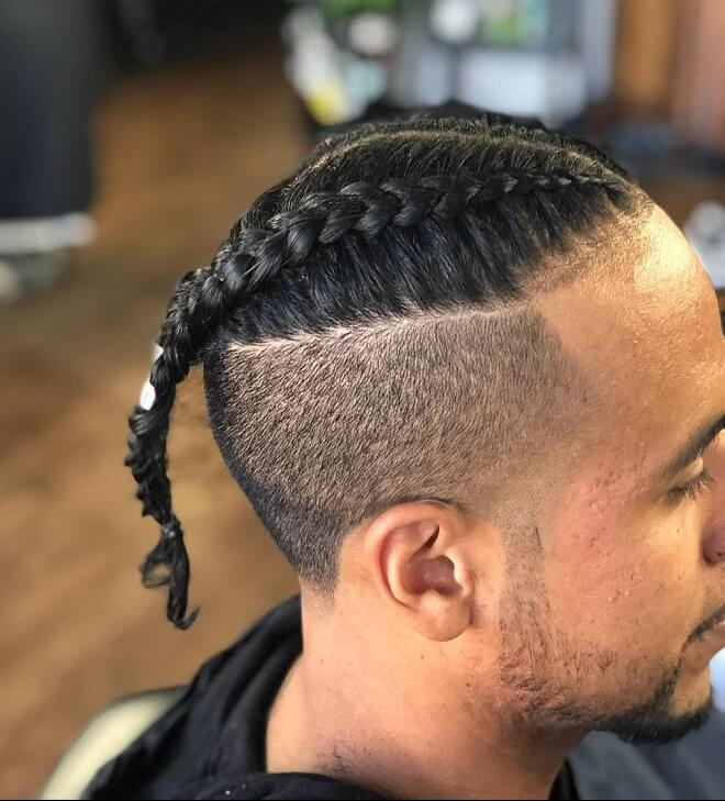 Undercut With Cornrows Haircut