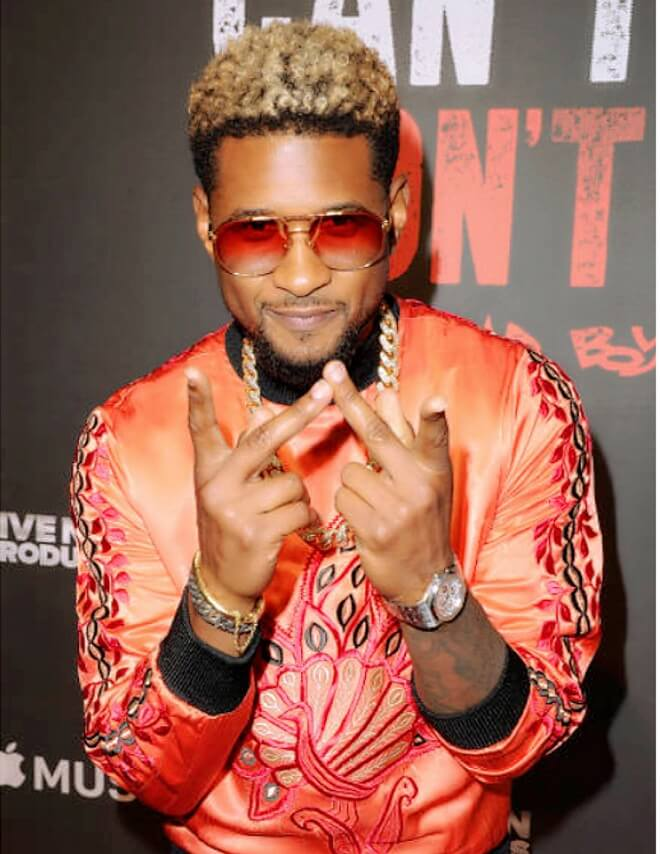 Usher Blonde Afro