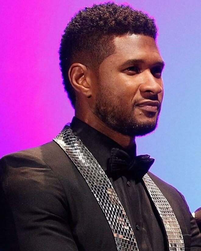 Usher Mohawk with Fade Hairstyle
