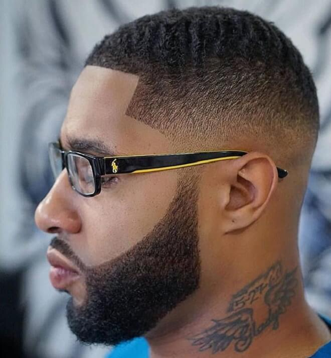 Wavy Hairstyle with Low Fade