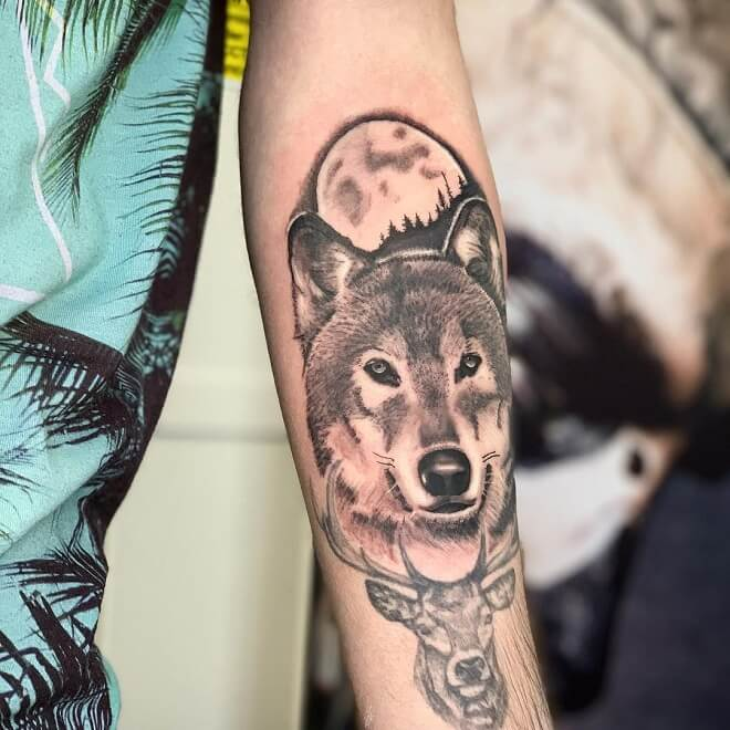 Wolf Tattoos Sleeve