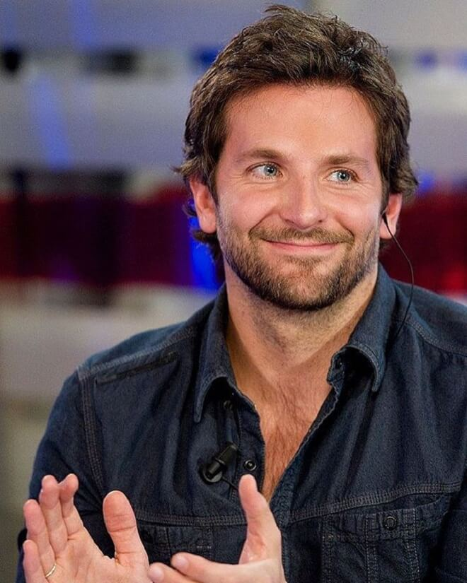 Bradley Cooper Hairstyle with Beard