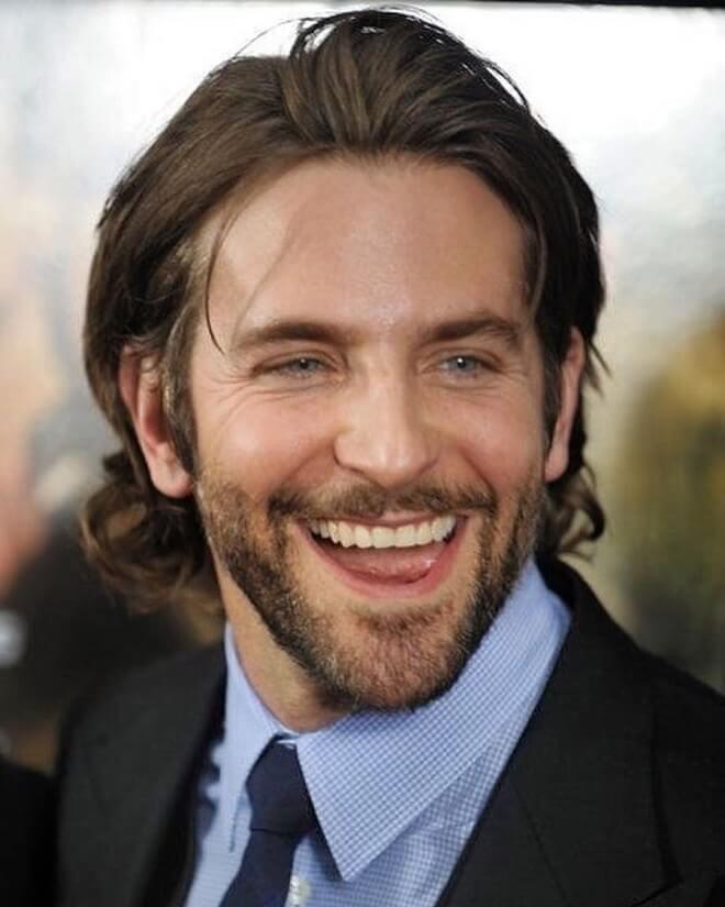 Bradley Cooper Mid-Length Hair