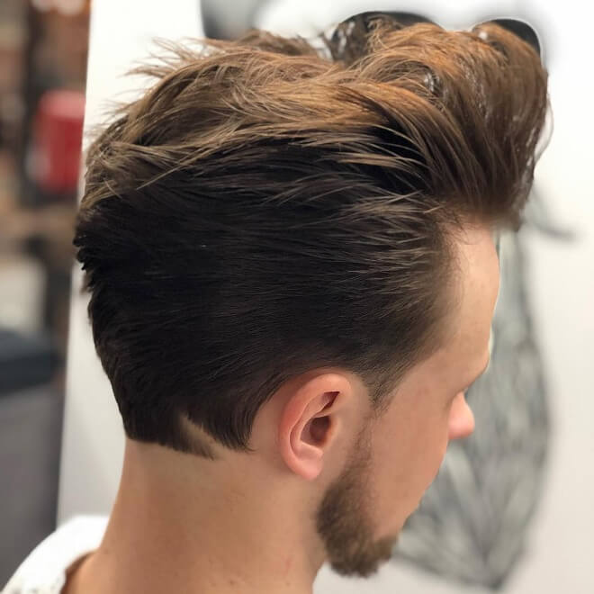 Brushed Up Quiff with Side Swept Back