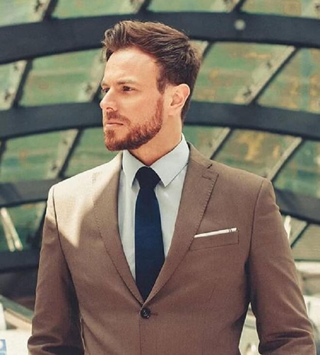 Business Haircut with Beard Style
