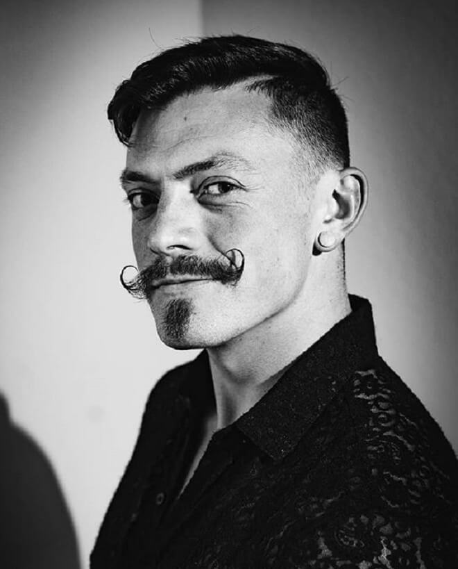 Chin Strap with Mustache