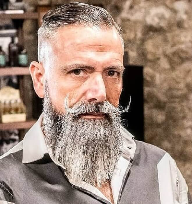 Classic Beard Style with Short Haircut