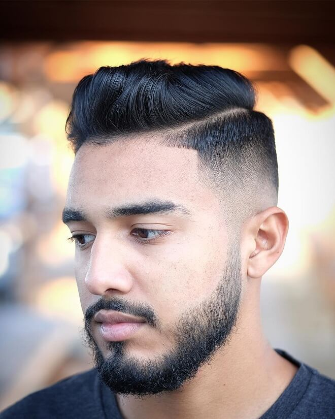 Comb Over with Short Pompadour