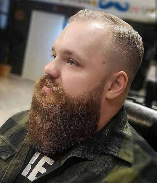 Crew Cut with Beard Style