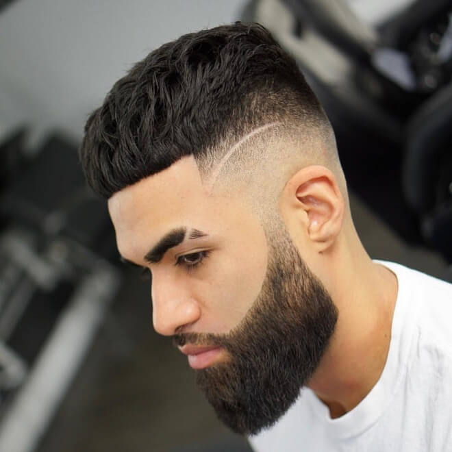 Crop Cut with Side Part Haircut