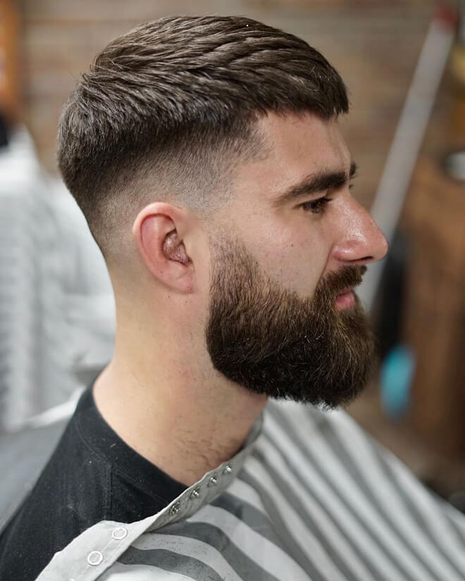 Crop Haircut with Fade