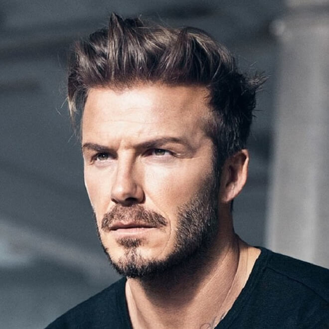 David Beckham Hairstyle with Beard Style