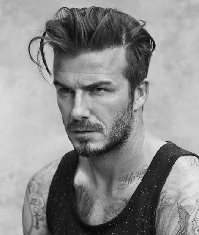 David Beckham Messy Pompadour Hairstyle