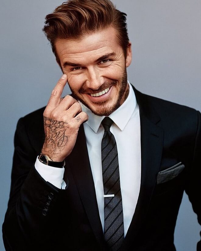 David Beckham Pompadour Hairstyle