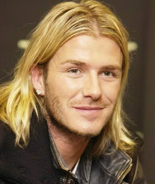 David Beckham Shoulder Length Hairstyle