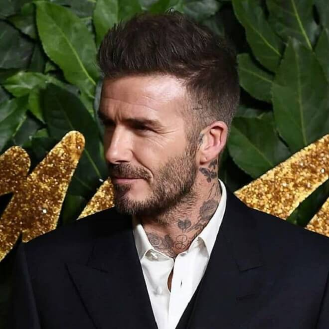 David Beckham Spiky Hair