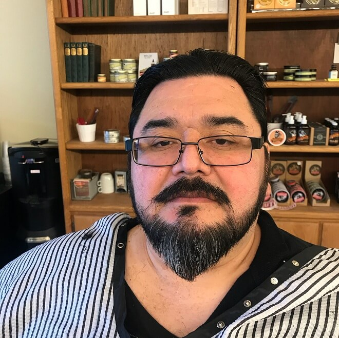 Disconnected Mustache with Beard