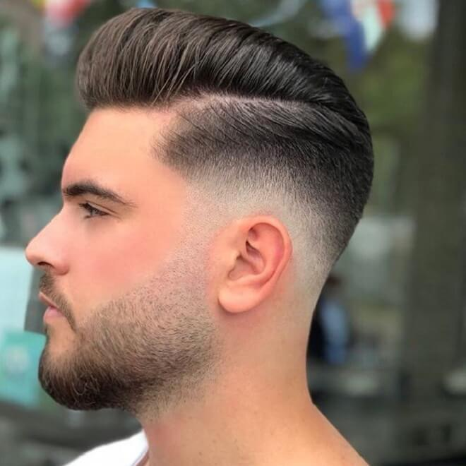 Drop Fade with Comb Over
