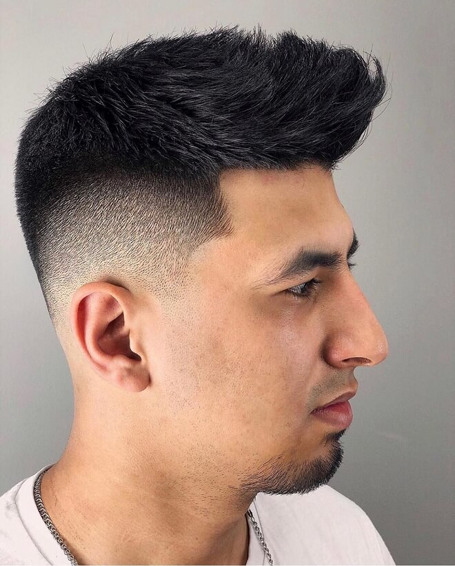 Fade with Quiff Haircut