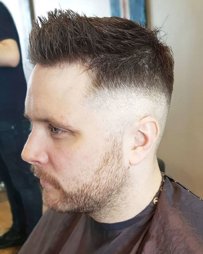 Front Spiky with Skin Fade