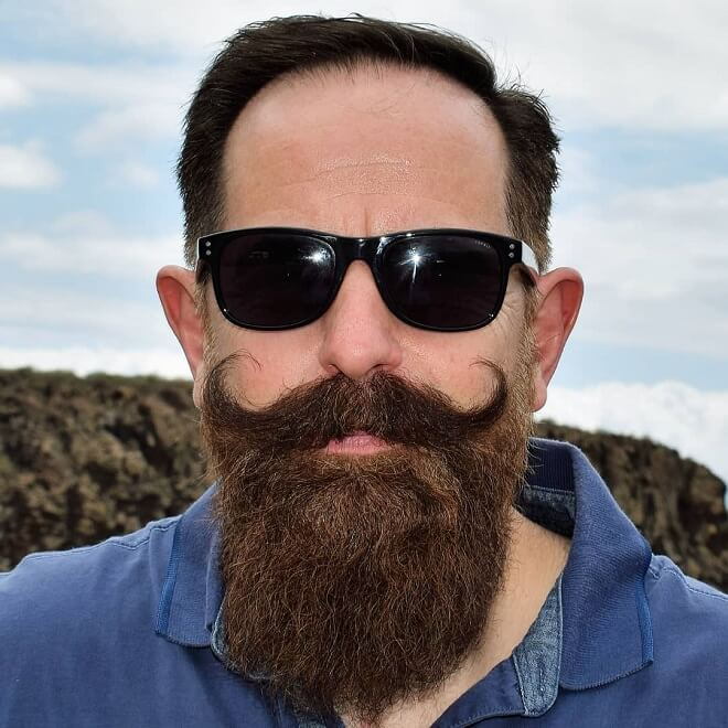 Handlebar Moustache with Beard