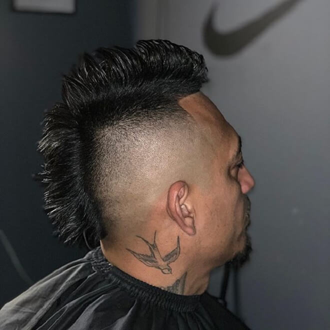 High Skin Fade with Mohawk Hairstyle