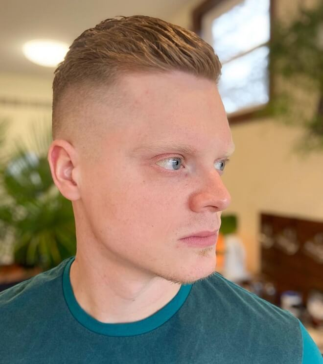 Ivy League Haircut with Hard Part