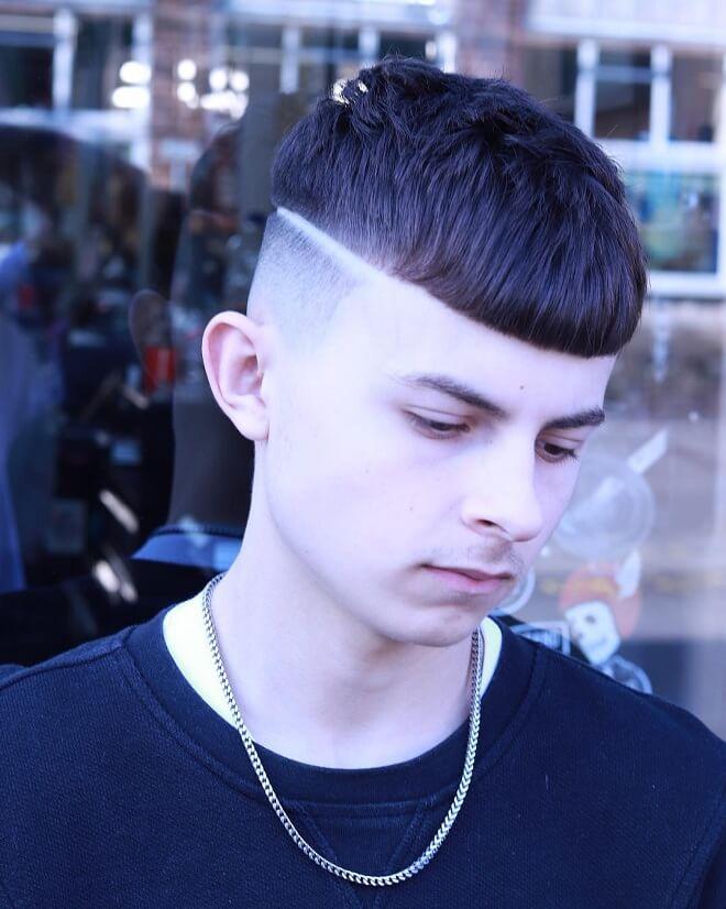 Line Part Haircut with Bang