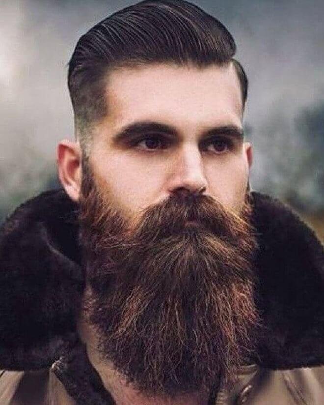Long Beard with Silk Back Hair