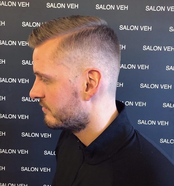 Low Fade Haircut with Comb Over Fade