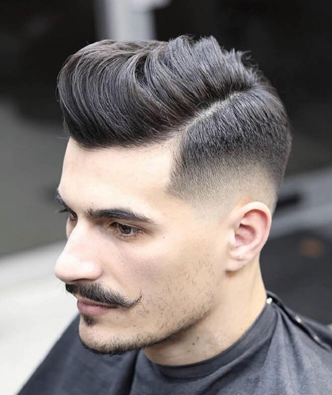 Low Fade with Comb Over
