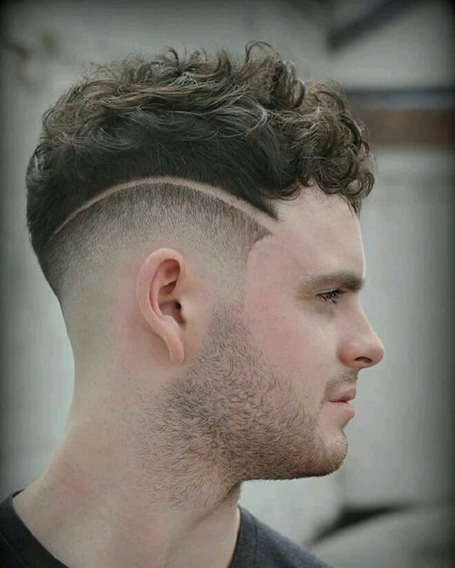 Low Fade with Curly Top