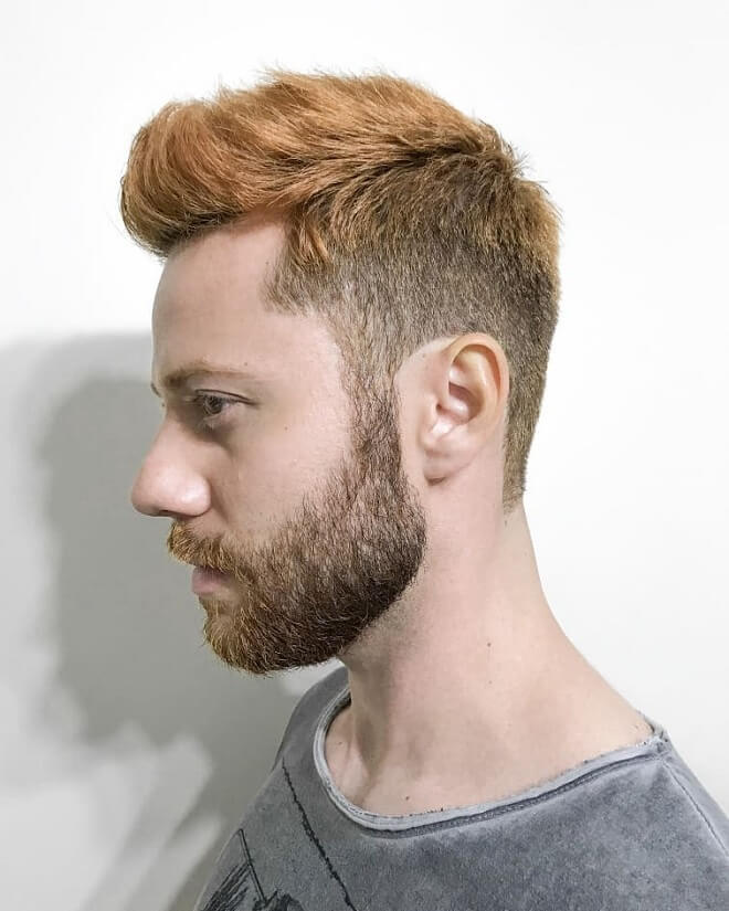Low Fade with Faux Hawk Fade