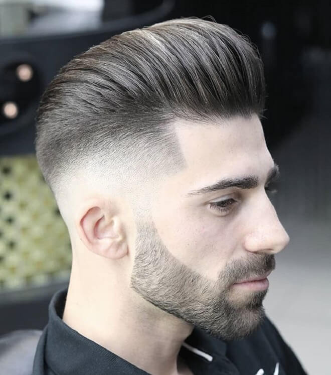 Low Fade with Pompadour