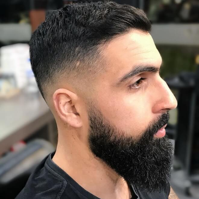 Low Skin Fade with Crew Cut
