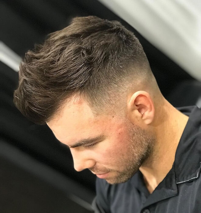 Low Skin Fade with Faux Hawk Hairstyle