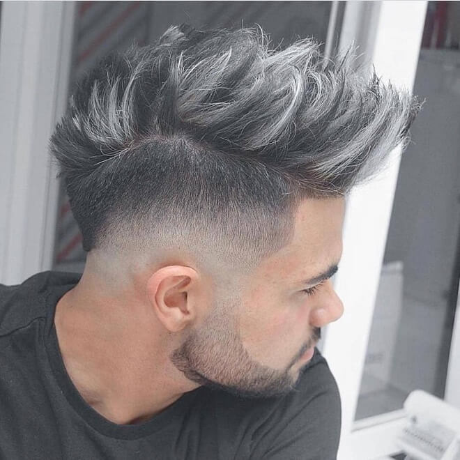 Low Skin Fade with Medium Length Hairstyle