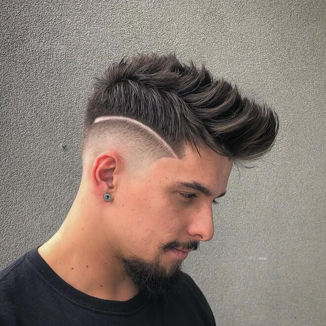 Low Skin Fade with Spiky Quiff