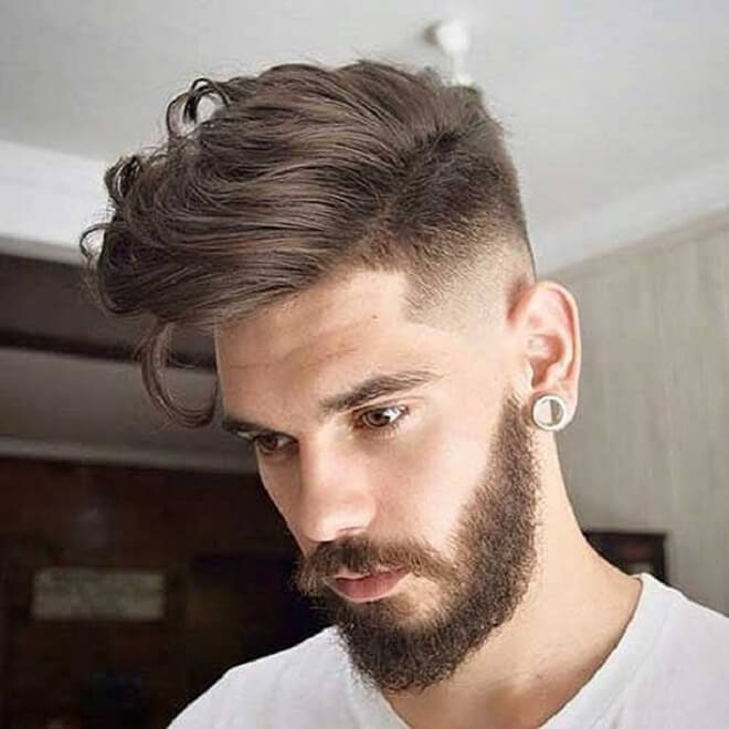 Mens Medium Hairstyle with Beard Style