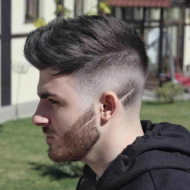 Messy Faux Hawk with Skin Fade