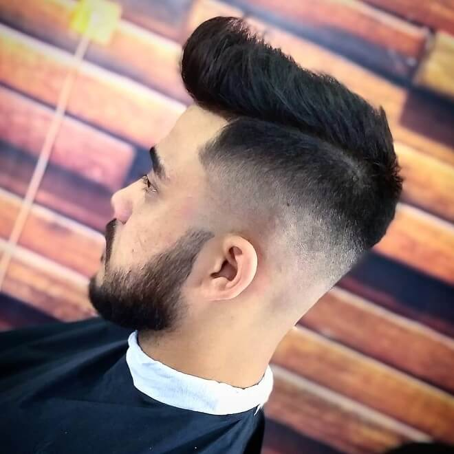 Mid Skin Fade with Quiff