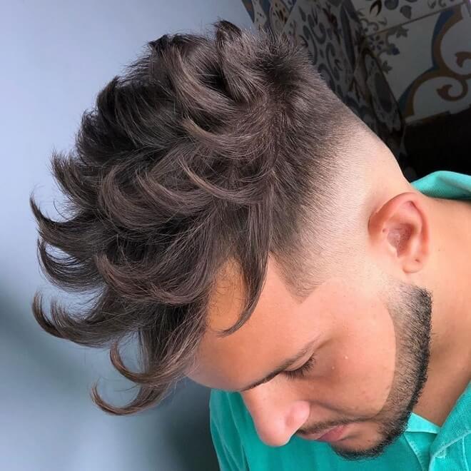 Modern Quiff Hair with Fade