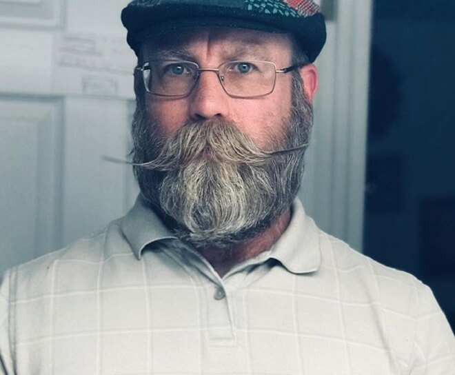 Moustache with Beard Style