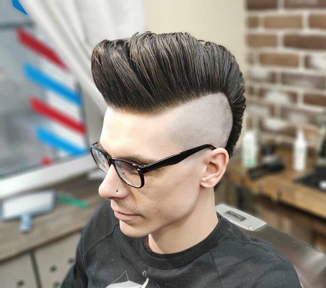 Pompadour Mohawk Haircut