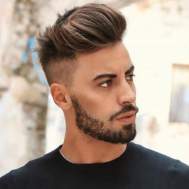 Quiff with Skin Fade Haircut