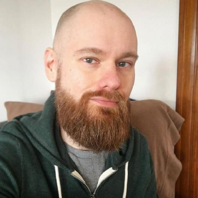 Shaved Head with Beard Style
